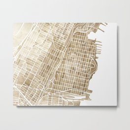 Hoboken New Jersey city map Metal Print