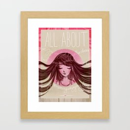 All about love Framed Art Print