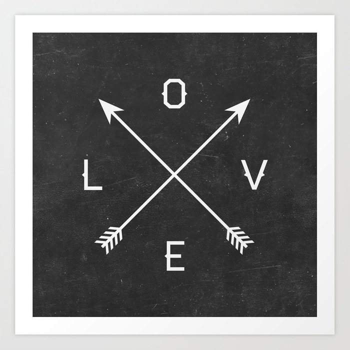 Sunday's Society6 | Love arrows art print