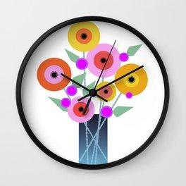 Floral Potpourri Wall Clock