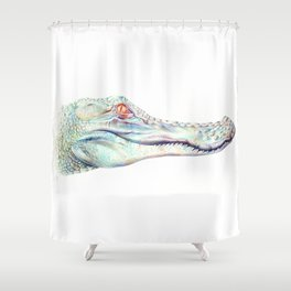 Albino Alligator Shower Curtain