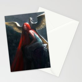 Red Falls Stationery Cards