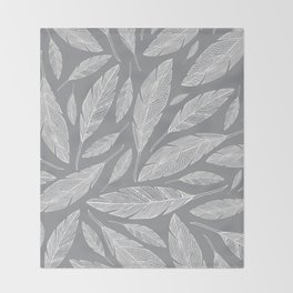 Float Like A Feather - Grey Throw Blanket