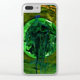 a moon shaped drool Clear iPhone Case