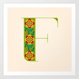 F - Amarilis Art Print