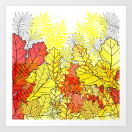 Gold autumn. Art Print