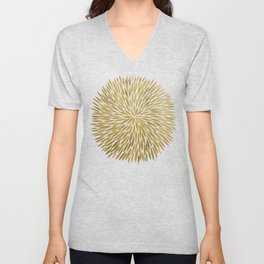 Golden Burst Unisex V-Neck