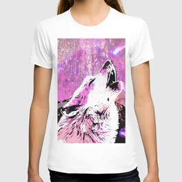 WOLF PINK MOON SHOOTING STARS T-shirt