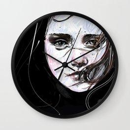 digital portrait Wall Clock