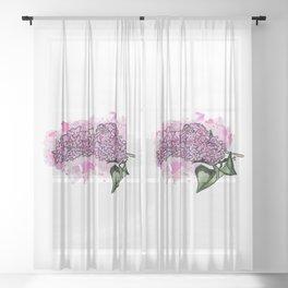 Lilac - Colour Sheer Curtain