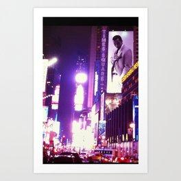 NYC Night Life Street View Art Print