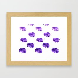 abstract prints with acrylic paints, violet tones Framed Art Print