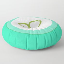 Green Heart with Love Floor Pillow