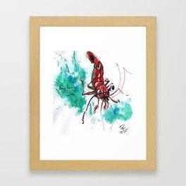 Shrimp Friend Framed Art Print