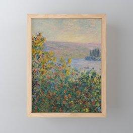 Flower Beds at Vétheuil Framed Mini Art Print