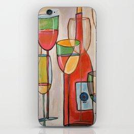Abstract Modern Wine Art / Wine Tasting iPhone Skin