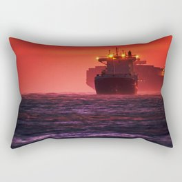 Ships in the windstorm Rectangular Pillow