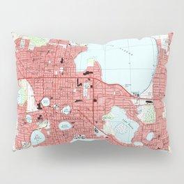 Lakeland Florida Map (1994) Pillow Sham