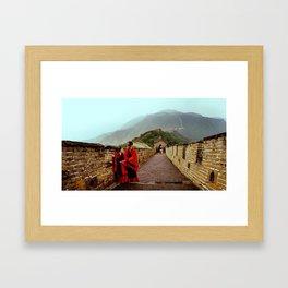 Wedding on Mutianyu Great Wall Framed Art Print