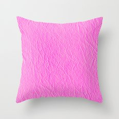 Leather Texture (Pink) Throw Pillow