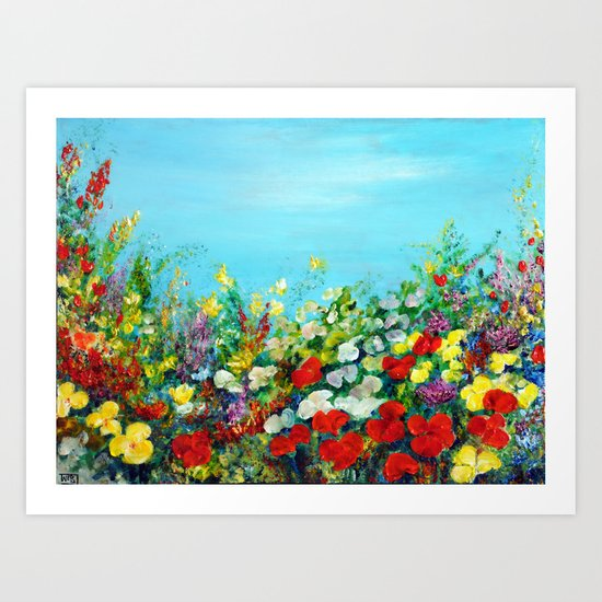 SPRING IN THE GARDEN Art Print