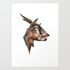 Salivating Goat Art Print