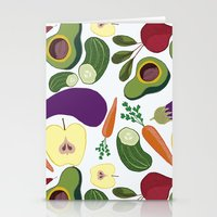 vegetables Stationery Cards featuring vegetables by Aina Bestard
