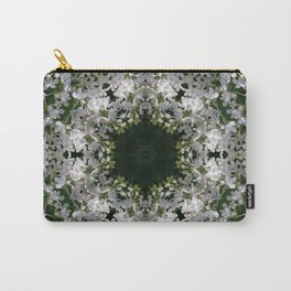 Botanical lace, white lilac mandala /kaleidoscope Carry-All Pouch