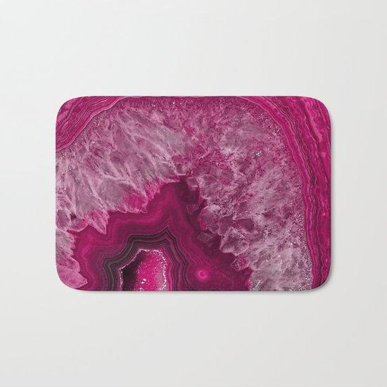 Pink purple agate mineral gem stone- Beautiful backdrop Bath Mat