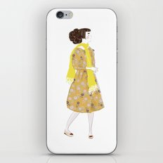 Cute girl iPhone & iPod Skin