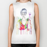 acid Biker Tanks featuring acid by Lua Fraga