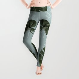 Monstera Urban Jungle pattern Leggings