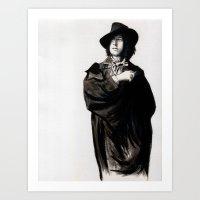 oscar wilde Art Prints featuring Oscar Wilde by Zombie Rust