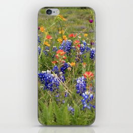 Bluebonnets, Indian Paintbrushes & Wildflowers iPhone Skin