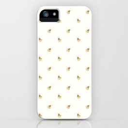 Gold Watercolour Bee Print iPhone Case