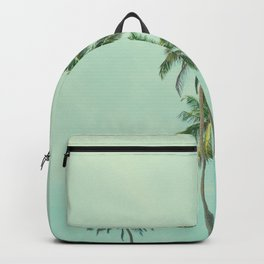 Aloha! Tropical palm tree summer in summer blue sky background Backpack