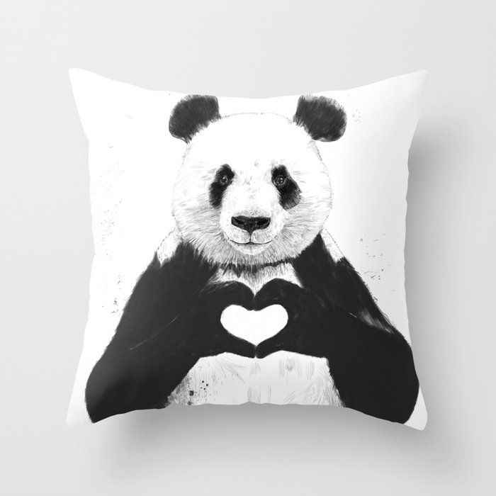 All you need is love Throw Pillow by soltib