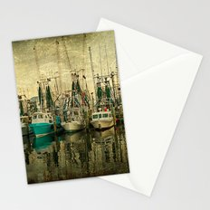 Shrimp Boat Lineup Stationery Cards