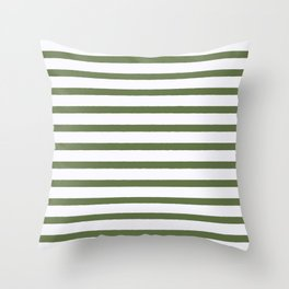 Green stripes seamless pattern, from the Orange Blossom Pattern Collection Throw Pillow
