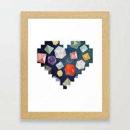 Heart of Dice Framed Art Print