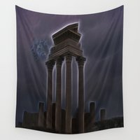 lightning Wall Tapestries featuring Medusa's Lightning by Lucia