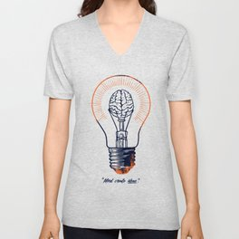 Mind create ideas Unisex V-Neck