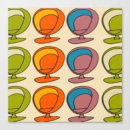 Retro Chair Pearl #atomicage Canvas Print