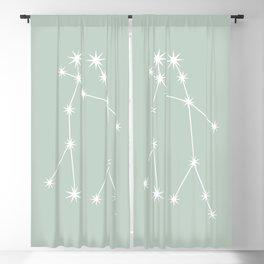 Gemini Zodiac Constellation - Sage Blackout Curtain