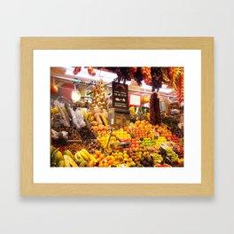 Fresh Fruits Framed Art Print