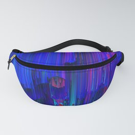 In the Midst - Abstract Glitchy Pixel Art Fanny Pack