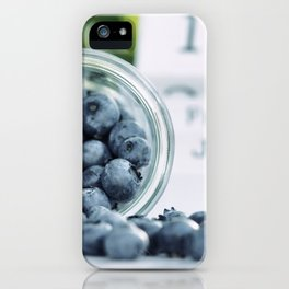 Wild Bluebeeries in Glass for kitchen iPhone Case
