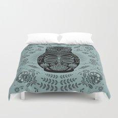Owl Nesting Doll (Matryoshka) Duvet Cover