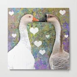 Geese Love Metal Print