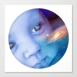 Galaxy Baby Canvas Print